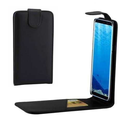 Кожаный  флип чехол  CS для Самсунг Галакси С8 + / G9550-черный
