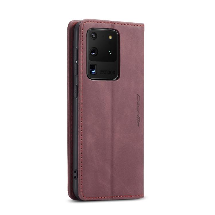Кожаный чехол CaseMe-013 Multifunctional на Samsung Galaxy S20 Ultra - винно-красный
