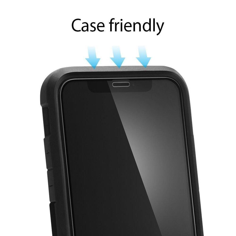 Каленое защитное стекло черного цвета для Айфон 11 Про Макс