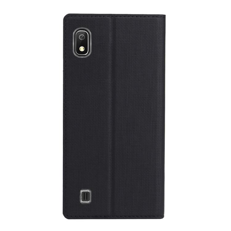 Чехол- книжка ViLi Texture  для Samsung Galaxy A10- черный