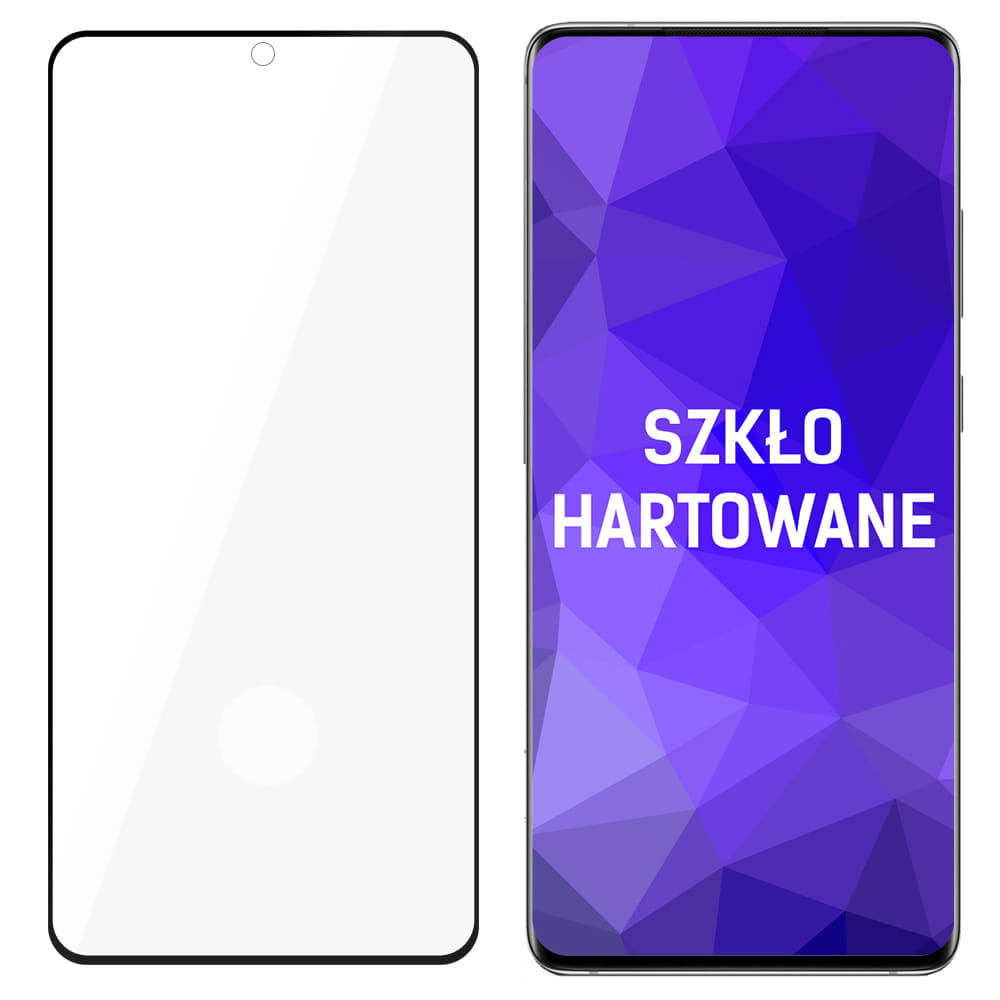 Защитное стекло 3MK HardGlass Max для Samsung Galaxy S21 Plus - черное