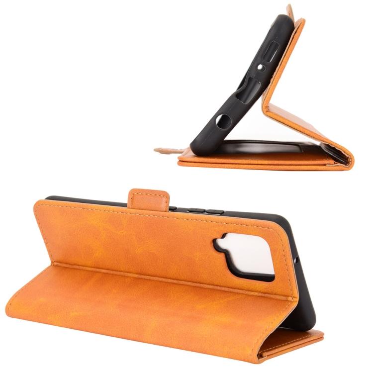 Чехол-книжка для Самсунг Галакси A42 - оранжевый