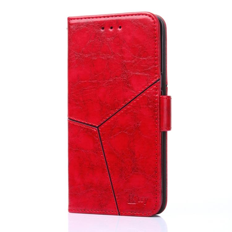 Кожаный чехол-книжка для Xiaomi Poco M3 красный
