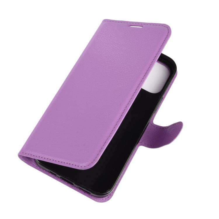Фиолетовый чехол-книжка для Айфон 12