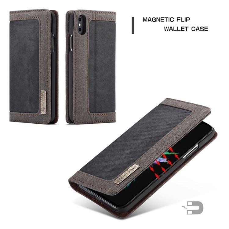 Чехол-книжка CaseMe 006 Series Card магнитная крышка на iPhone Xs Max 6.5 - черный
