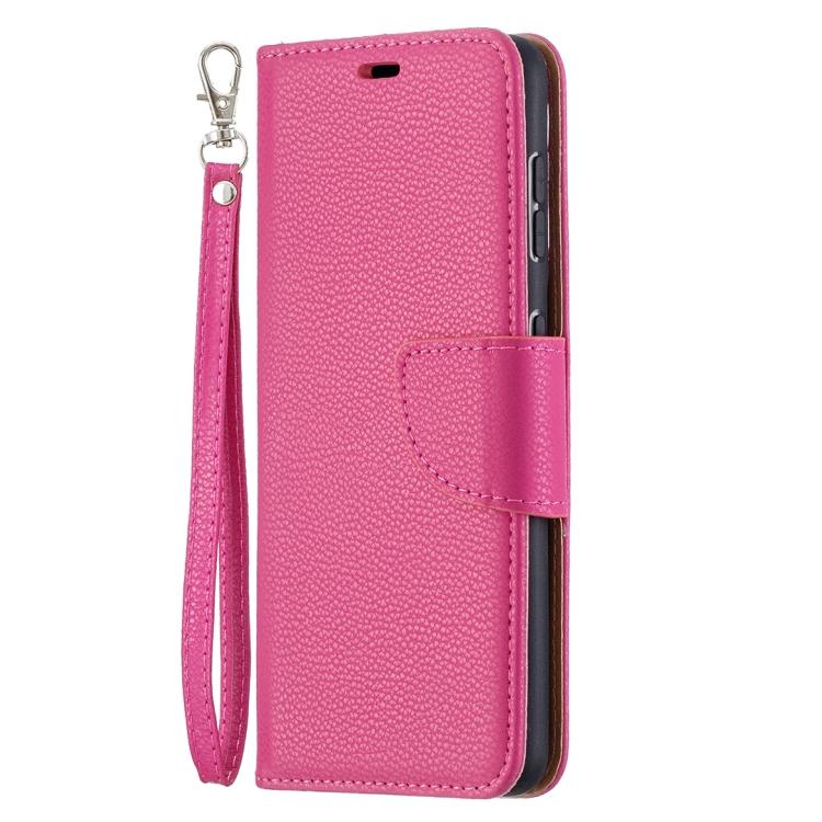 Пурпурно-красный чехол-книжка Pure Color на Samsung Galaxy S21