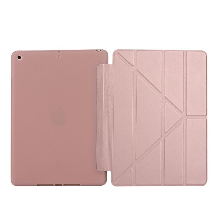 Чехол-книжка цвета розового золота Solid Color для iPad 8/7 10.2