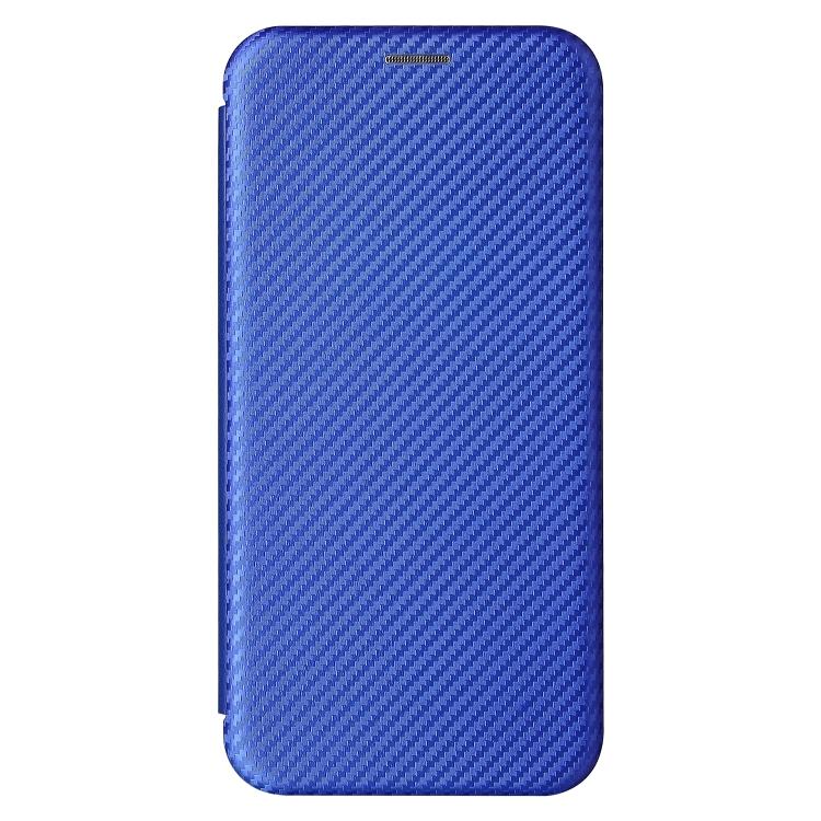 Чехол-книжка Carbon Fiber Texture на Xiaomi Redmi Note 10 Pro / Note 10 Pro Max - синий