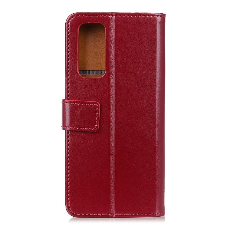Чехол-книжка кожаный вино-красного цвета для Самсун Гелекси М31с