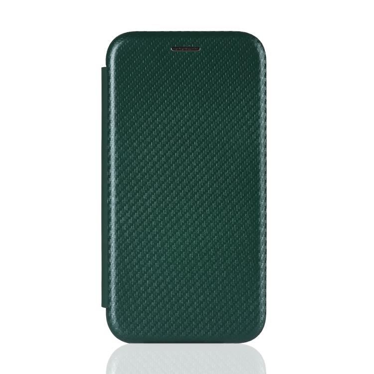Чехол-книжка Carbon Fiber Texture на Xiaomi Mi 10T Lite - зеленый