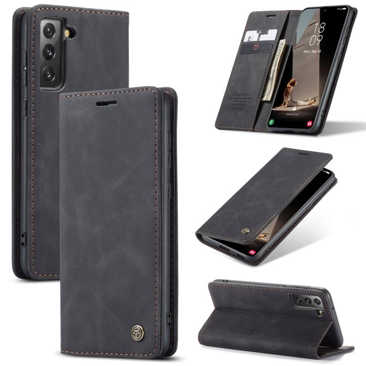 Чехол-книжка CaseMe 013 Series для Samsung Galaxy S21 FE - черный