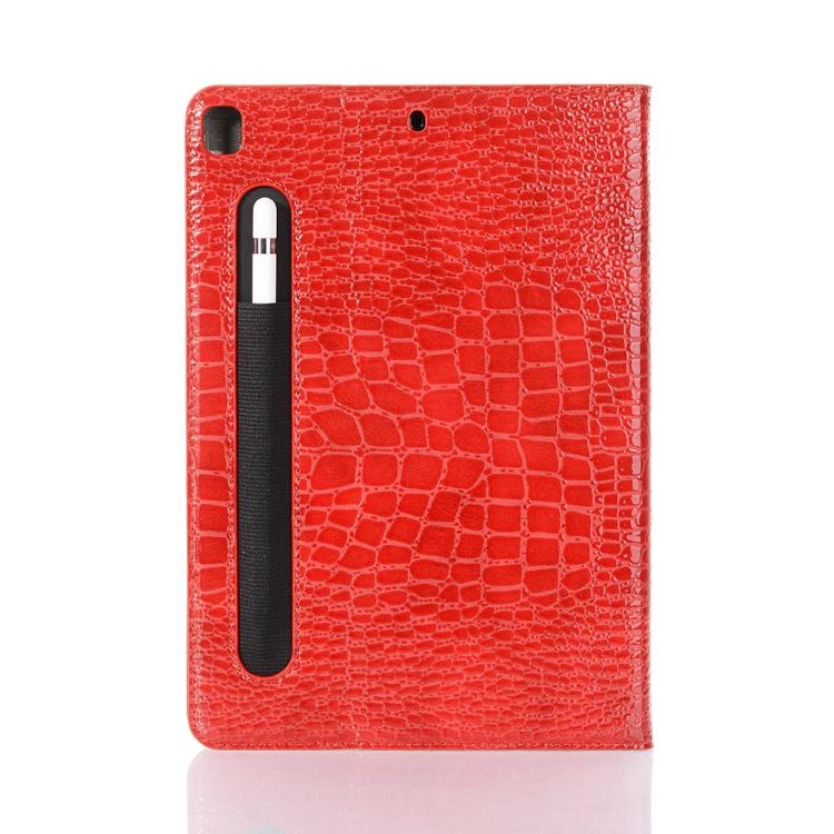 Кожаный Чехол Crocodile Texture красный для iPad 8/7 10.2 (2019/2020)