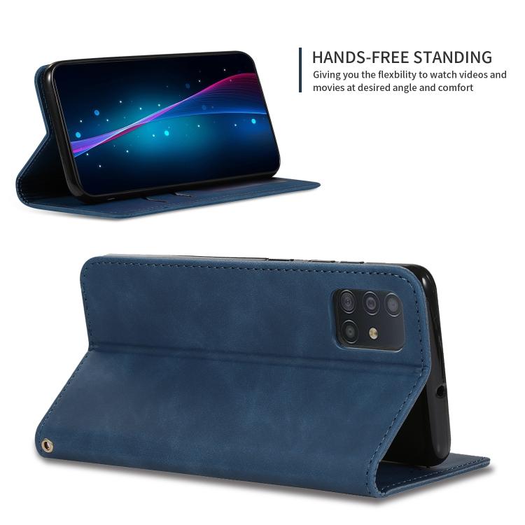 Синий чехол-подставка Business для Самсунг Галекси А51