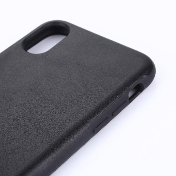 Кожаный чехол Crazy Horse Texture на iPhone XS Max черный