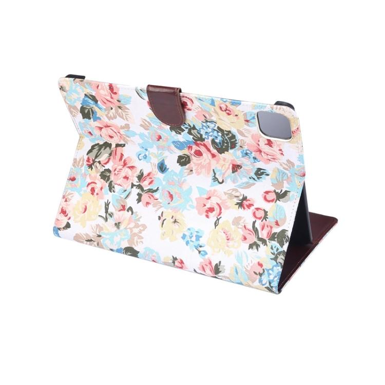 Чехол-книжка Flower Cloth Texture на iPad Air 10.9 2020 - белый
