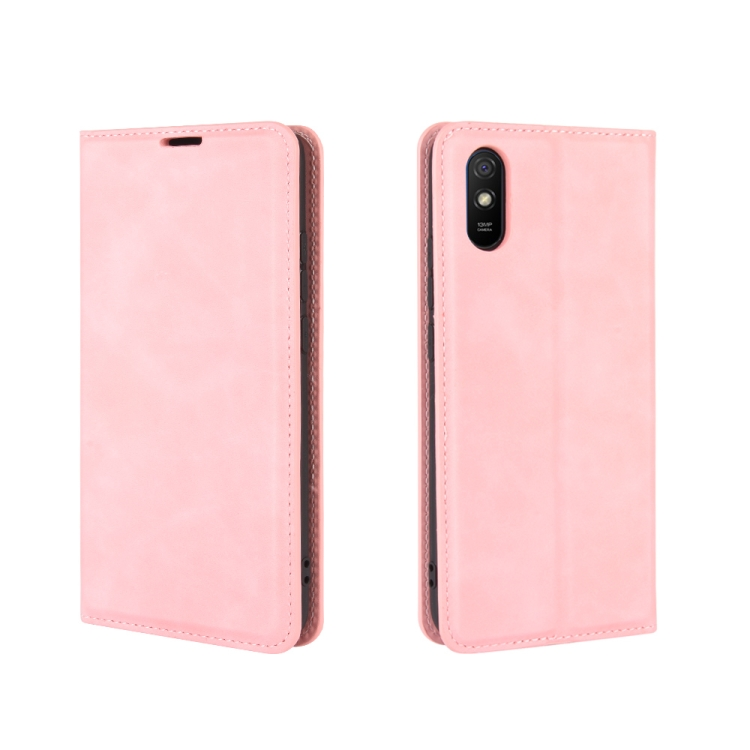 Розовый защитный чехол-книжка для Сяоми Редми 9А
