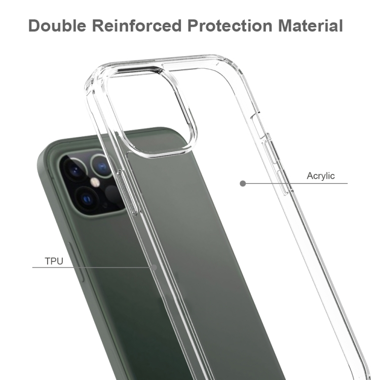 Акриловый противоударный чехол HMC на iPhone 12 Pro Max - прозрачный