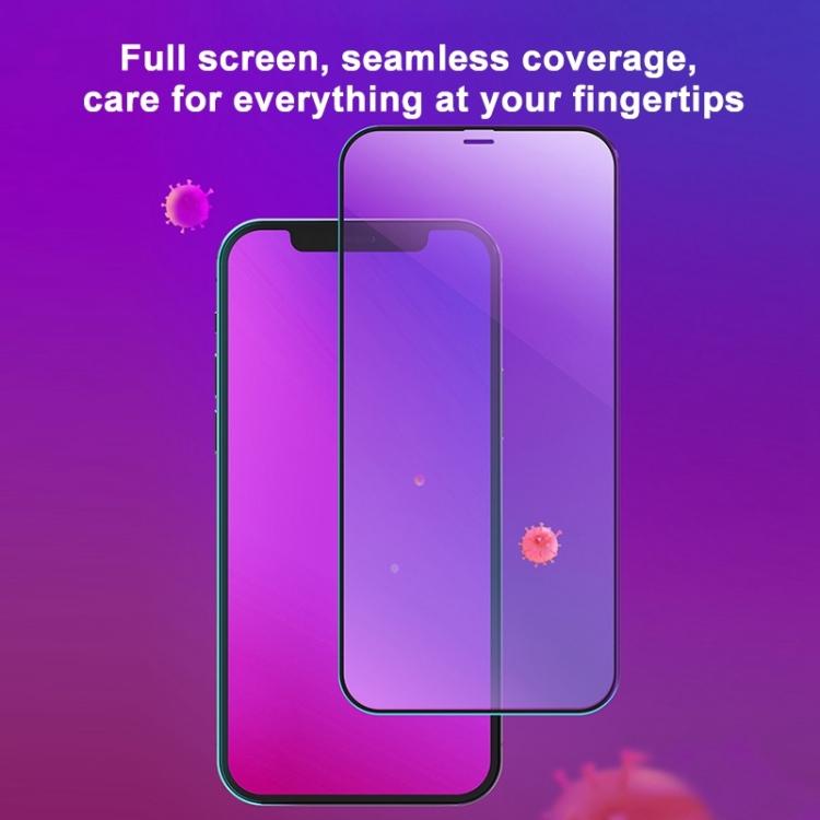 Защитное стекло MOMAX Anti-bacterial Reinforced на iPhone 12 Max /12 Pro - черное