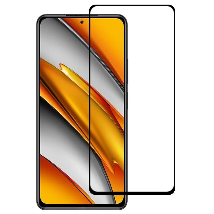 Защитное стекло 3D Full Glue Full Screen для Xiaomi Mi 11i/Poco F3/Redmi K40/K40 Pro - черный