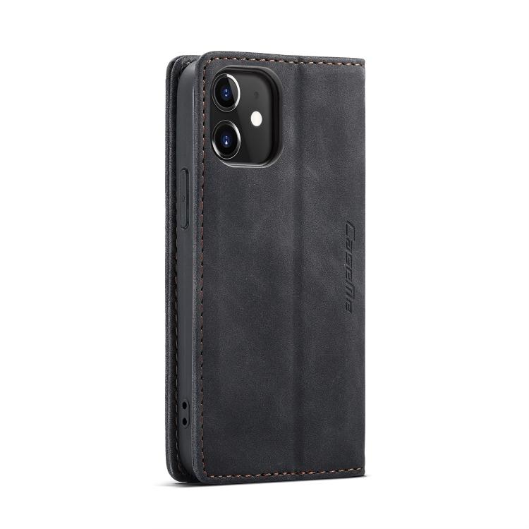 Кожаный чехол CaseMe-013 Multifunctional на iPhone 12 Mini - черный