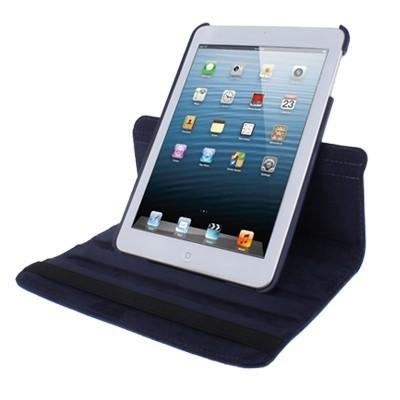 Кожаный Чехол 360 Degree Litchi Texture темно-синий для iPad mini 1 / 2 / 3