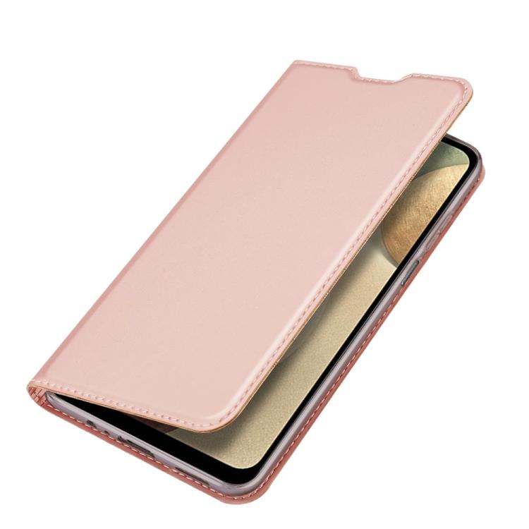 Розово золотой чехол-книжка DUX DUCIS на Samsung Galaxy A12/M12
