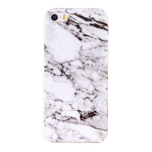 белый чехол Marbling на Айфон 5/ 5S/ SE с принтом мрамора