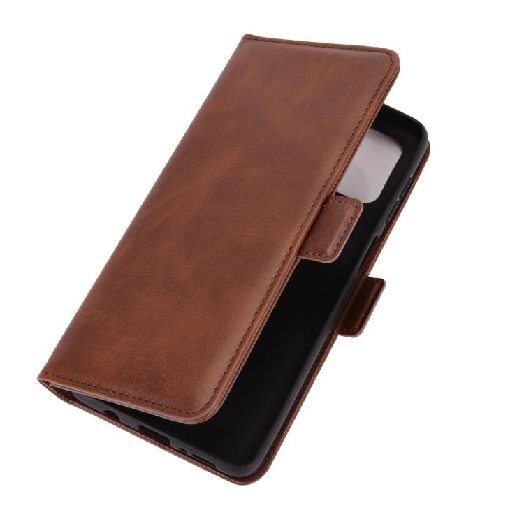 Чехол-книжка Dual-side Magnetic Buckle для Samsung Galaxy M51 - коричневый