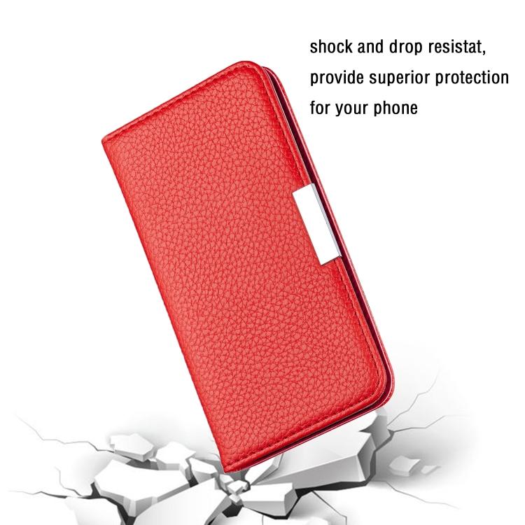 Красный чехол-книжка Solid Color на iPhone 12 Pro Max