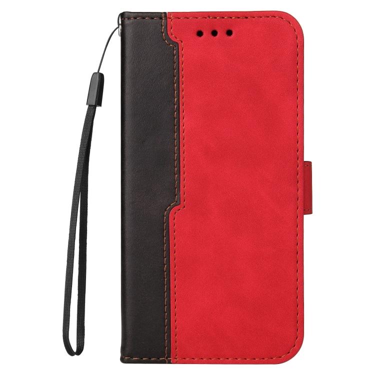 Чехол-книжка Business Stitching-Color для Samsung Galaxy S21 FE - красный