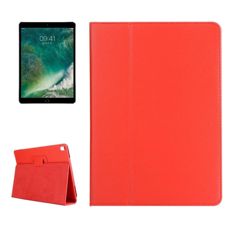 Чехол-книжка Litchi Texture 2-fold на iPad Pro 10.5/Air 2019-красный