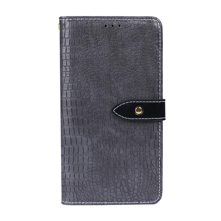 Серый чехол-книжка  Crocodile Texture на Samsung Galaxy A32 4G