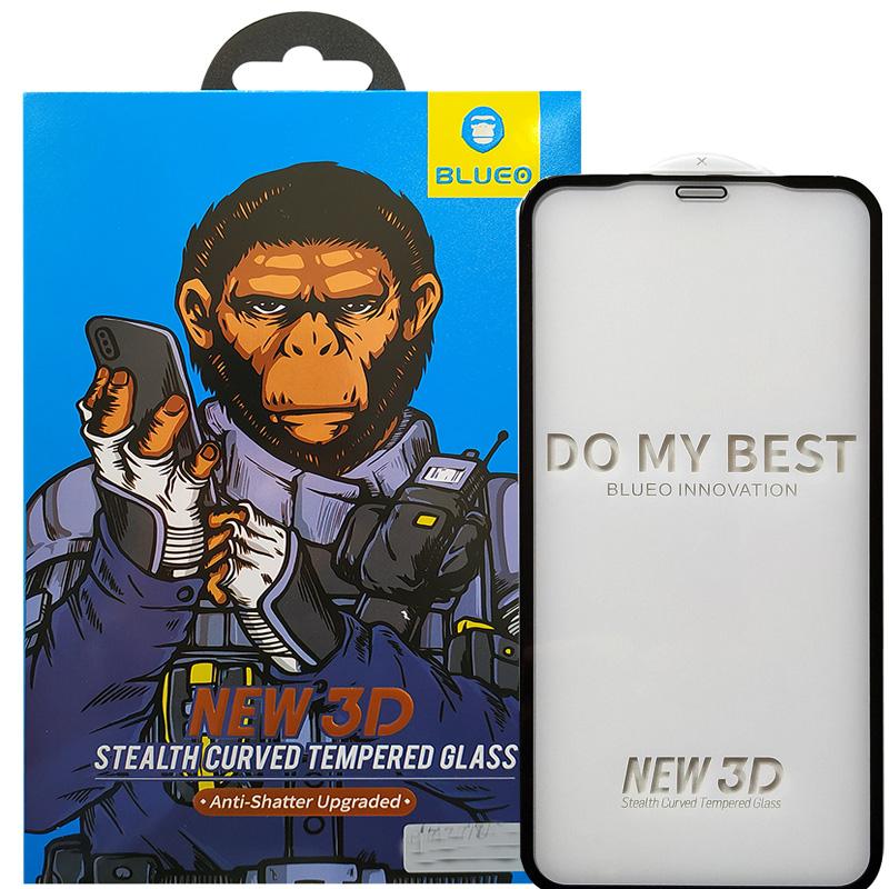 Защитный стекло с черной рамкой на Айфон 11 Про Макс