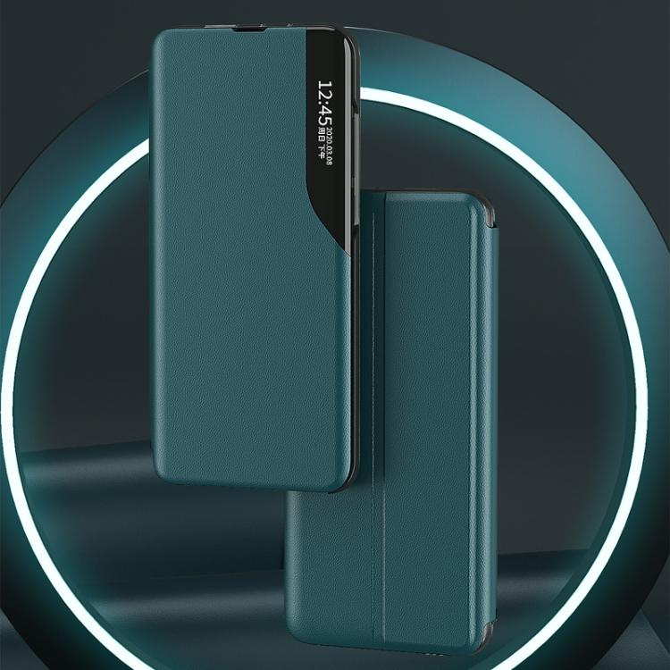 Чехол-книжка Clear View Standing Cover на Xiaomi Poco F3/Redmi K40/K40 Pro - красный