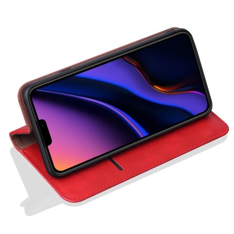 Красный чехол-книжка с складной подставкой для Айфон 11 Про Макс