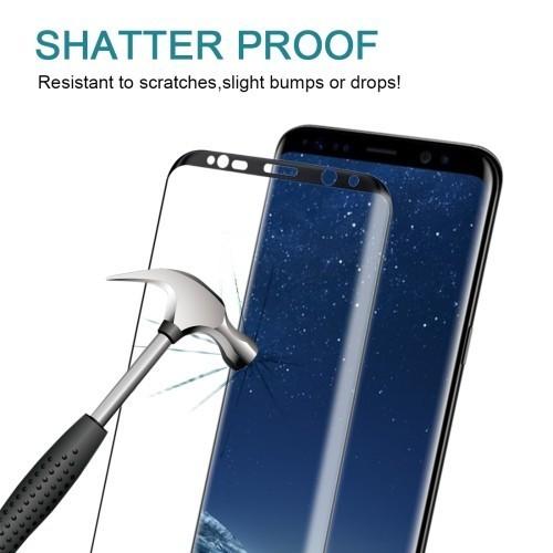 Защитное 3D стекло на весь экран 0.3mm 9H Черное для Samsung Galaxy S8+