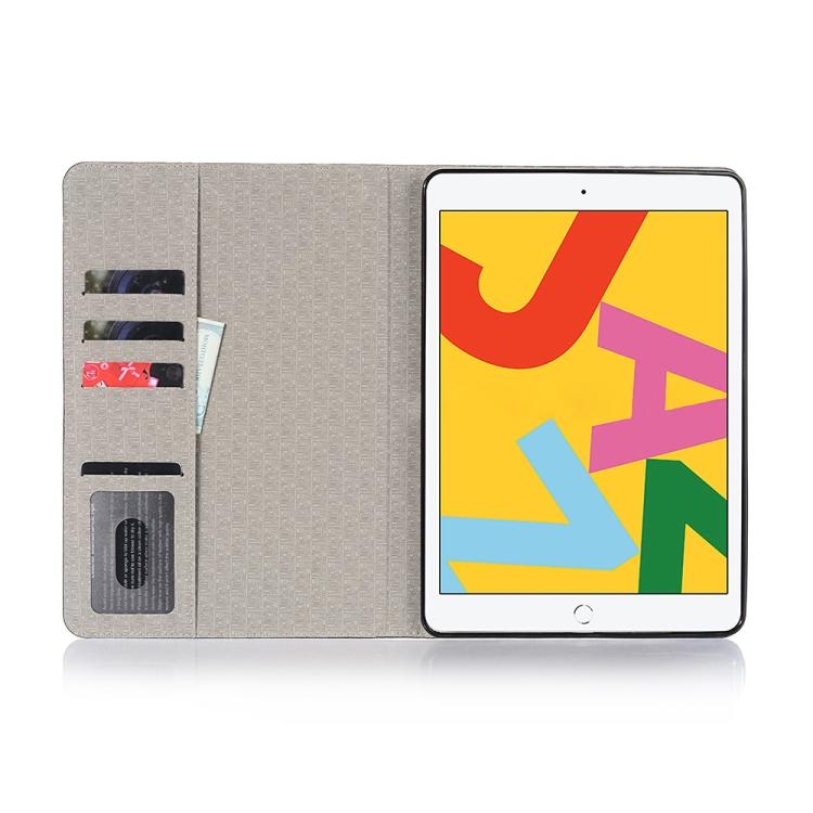 Кожаный чехол коричневого цвета для Айпад 8/7 10.2 (2019/2020) со слотом для карт и отсека для стилуса