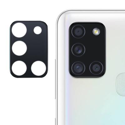 Гибкое Защитное стекло на камеру 0.18mm для Samsung Galaxy A21s - черное