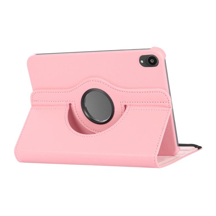 Розовый кожаный чехол-книжка со складывающейся подставкой на Айпад мини 6 2021