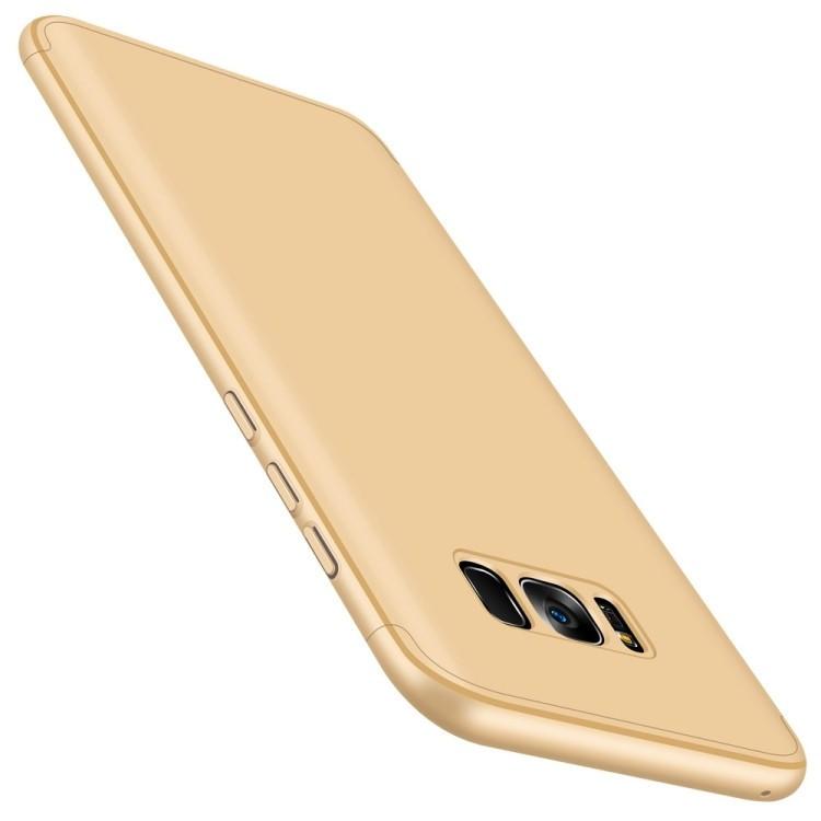3D чехол GKK Three Stage Splicing Full Coverage Case на Samsung Galaxy S8 + / G9550-золотой