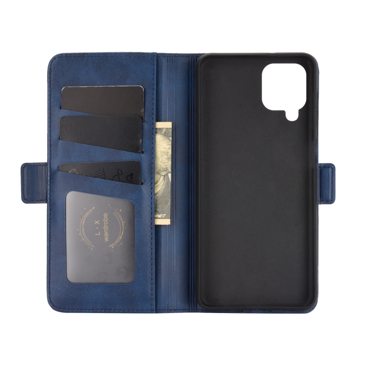 Синий чехол-книжка синего цвета для Самсунг Гелекси А12