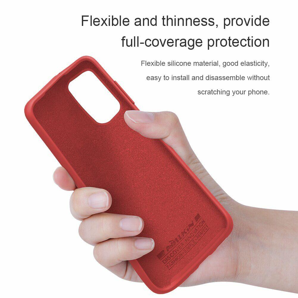 Силиконовый чехол накладка красного цвета для Самсунг Гелекси С20