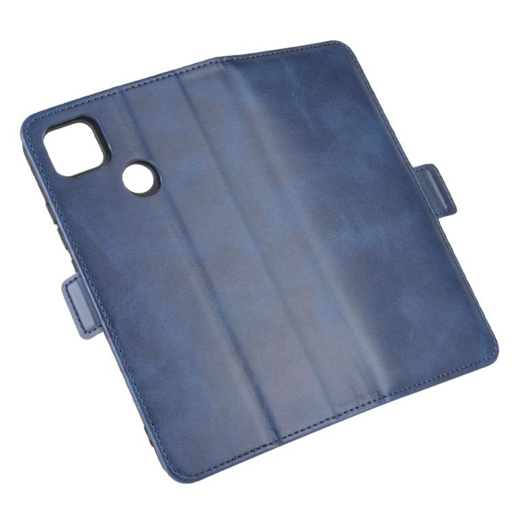 Чехол-книжка Dual-side Magnetic Buckle для Ксяоми Редми 9C - синий