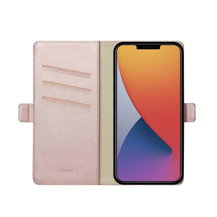 Чехол-книжка DZGOGO MILO Series на Айфон 12/12 Pro - розовое золото