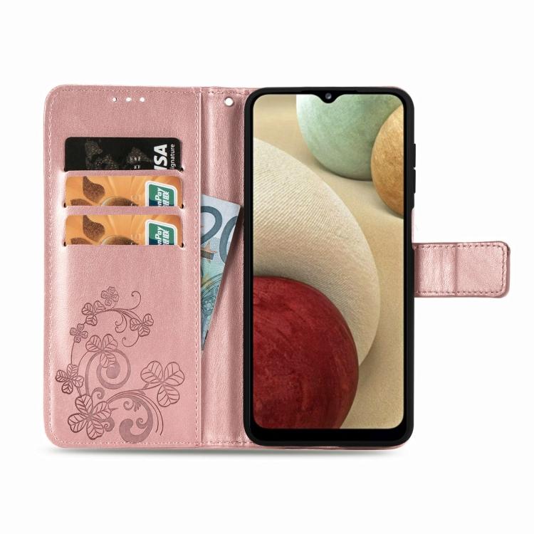 Чехол-книжка розового цвета с карманами для карт на Самсунг Галакси A12/M12