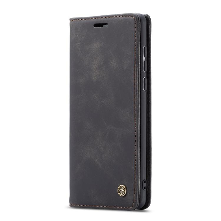 Кожаный чехол-книжка черного цвета для Самсунг Гелекси А71