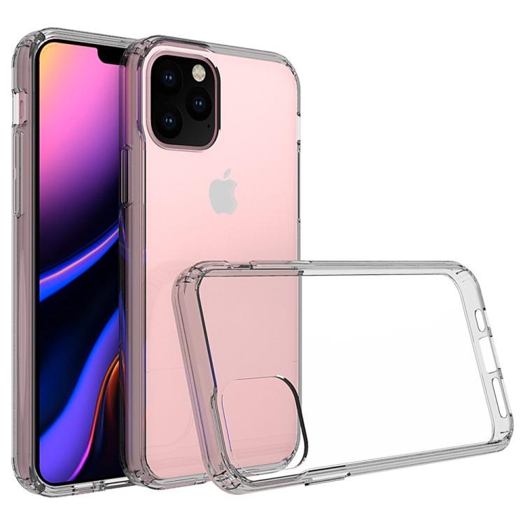 Прозрачный силиконовый чехол накладка серого цвета для Айфон 11 Про