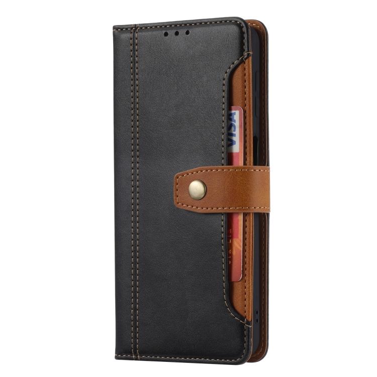 Черный кожаный чехол-книжка для Сяоми Редми Нот 10