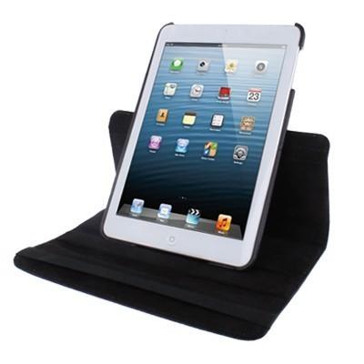 Кожаный Чехол 360 Degree Litchi Texture черный для iPad mini 1 / 2 / 3