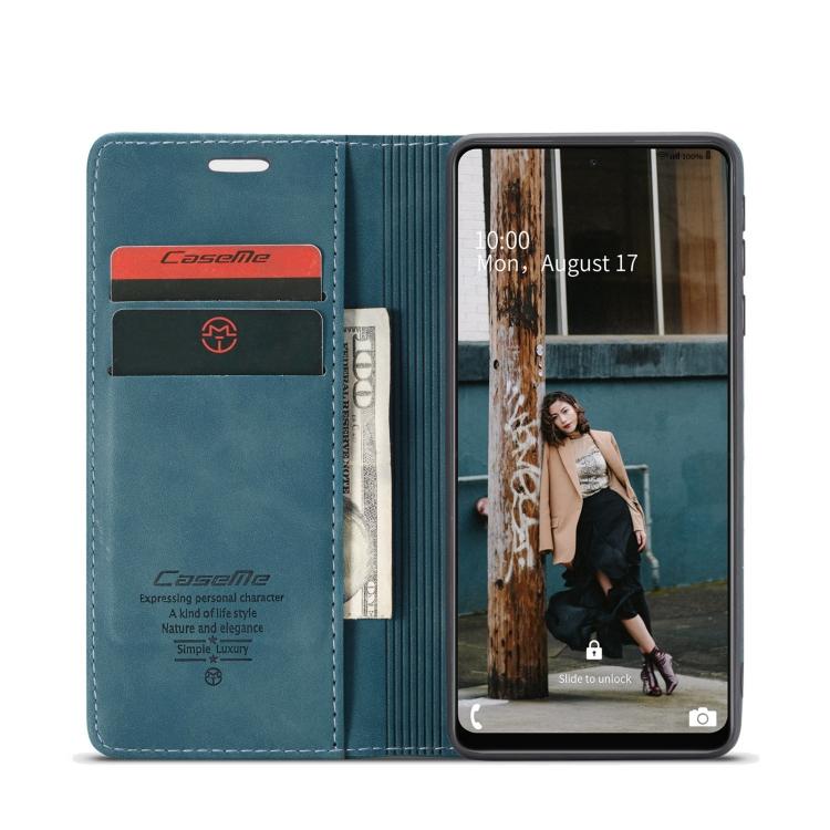 Чехол-книжка CaseMe 013 Series на Самсунг Галакси A72 - синий
